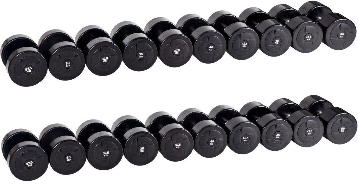 Гантельный ряд PROFI-FIT POWER 27,5 кг - 50 кг (10 пар), шаг 2,5 кг