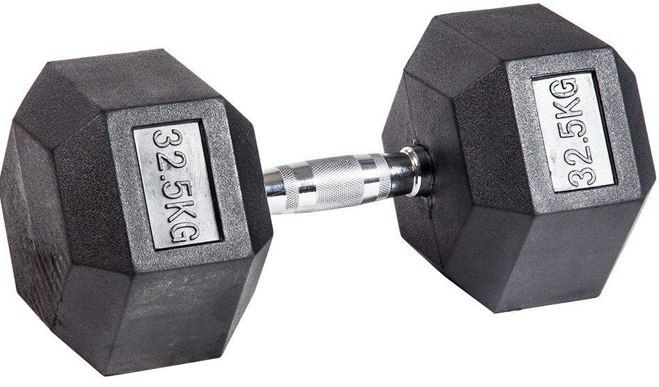 Гантель гексагональная обрезиненная ZSO, 32,5 кг