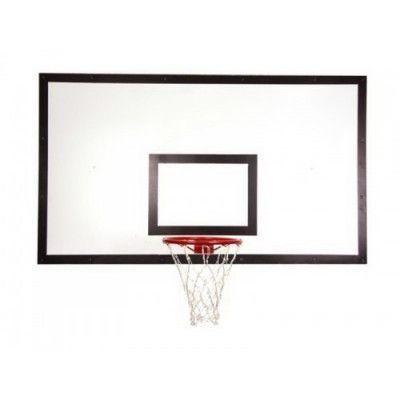 Щит баскетбольный ZSO игровой 1050х1800 мм ФАНЕРА (толщина фанеры 15 мм) на металлокаркасе пристенны