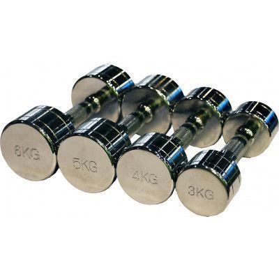 Гантельный ряд ZSO 1 кг - 10 кг (10 пар), шаг 1 кг, CHROME