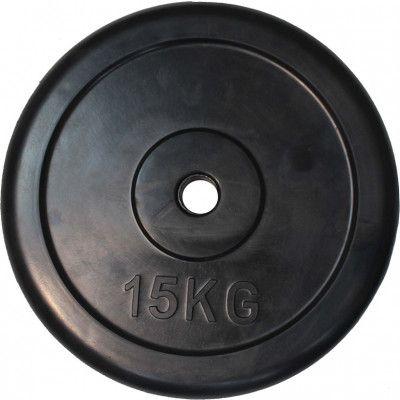 """Диск обрезиненный ZSO черный """"Classic"""" D-26, 15 кг"""