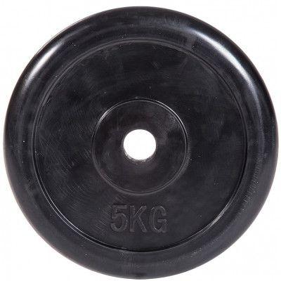 """Диск обрезиненный ZSO черный """"Classic"""" D-26, 5 кг"""