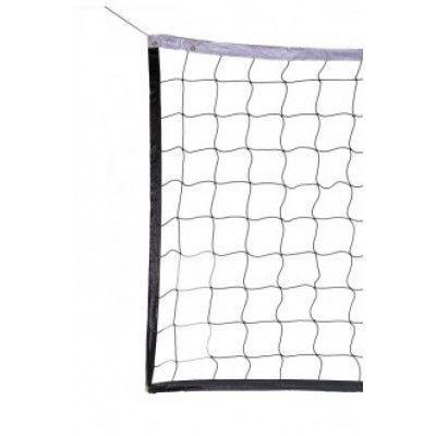 Сетка волейбол Д=2,8мм, яч 100*100, цв. белый, зеленый. Размер 1,0*9,5м обш. с 4-х сторон, верх лент