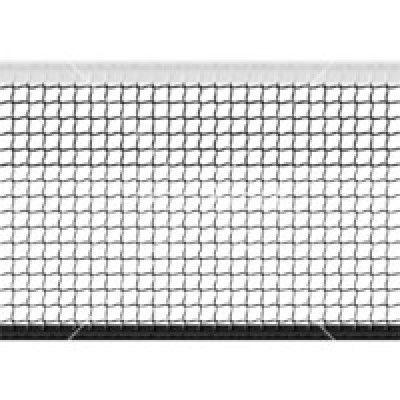 Сетка большой теннис Д=2,8мм, яч. 40*40 мм, цв. белый/зеленый. Размер 1,07*12,8 м обш. с 4-х сторон
