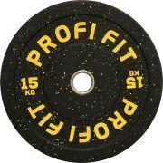 Диск для штанги HI-TEMP с цветными вкраплениями, PROFI-FIT D-51, 15 кг