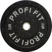 Диск для штанги HI-TEMP с цветными вкраплениями, PROFI-FIT D-51, 5 кг