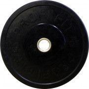 Диск для штанги каучуковый, черный, PROFI-FIT D-51, 10 кг