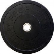 Диск для штанги каучуковый, черный, PROFI-FIT D-51, 5 кг