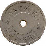 Диск для штанги каучуковый, серый, PROFI-FIT D-51, 5 кг