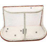 Сетка хоккей Д=2,8мм, яч. 40*40, цвет белый/зеленый. Для ворот  1.25*1.85*1.30м. ПП