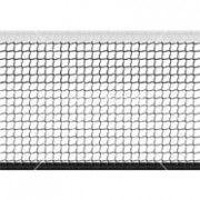 Сетка большой теннис Д=2,8мм, яч. 40*40 мм, цв. белый/зеленый. Размер 1,07*12,8 м обш. верх лента 10