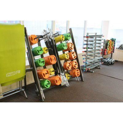 Коврик для йоги и фитнеса PROFI-FIT, 4 мм, ПРОФ ПЛЮС (светло-зеленый)