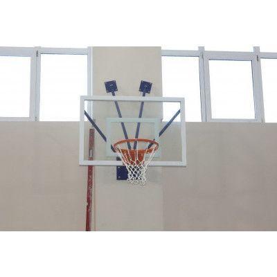 Щит баскетбольный ZSO, тренировочный СТЕКЛО 10 мм, без защиты, TB-8103М (без кольца) 800х1200 мм