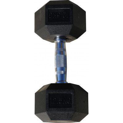 Гантель гексагональная обрезиненная ZSO, 12,5 кг