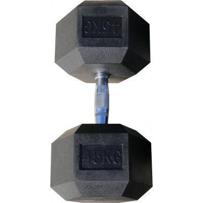 Гантель гексагональная обрезиненная ZSO, 45 кг