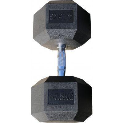 Гантель гексагональная обрезиненная ZSO, 47,5 кг