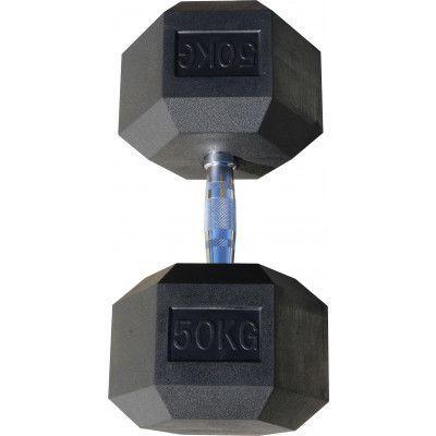 Гантель гексагональная обрезиненная ZSO, 55 кг