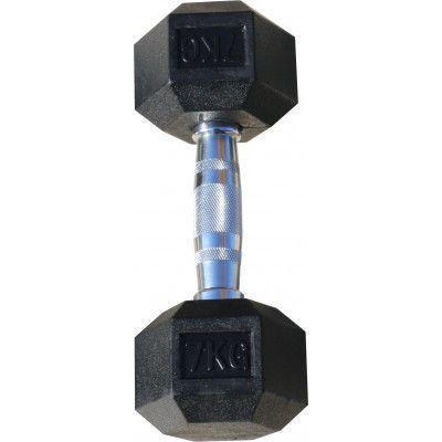 Гантель гексагональная обрезиненная ZSO, 7 кг