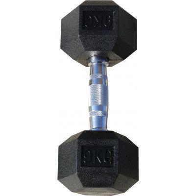 Гантель гексагональная обрезиненная ZSO, 9 кг
