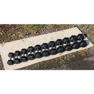 Гантель гексагональная обрезиненная ZSO, 35 кг