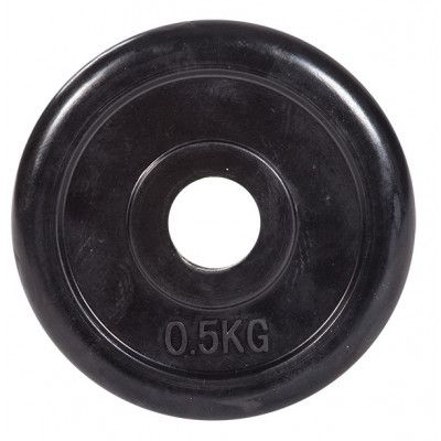 """Диск обрезиненный ZSO черный """"Classic"""" D-26, 0,5 кг"""