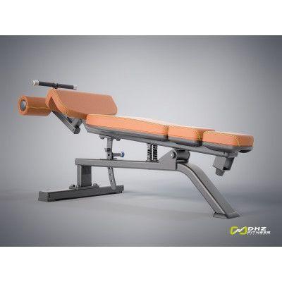 E-1037В Скамья для пресса регулируемая (Adjustable Decline Bench)