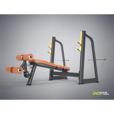 E-1041В Скамья-стойка для жима под углом вниз (Olympic Decline Bench)